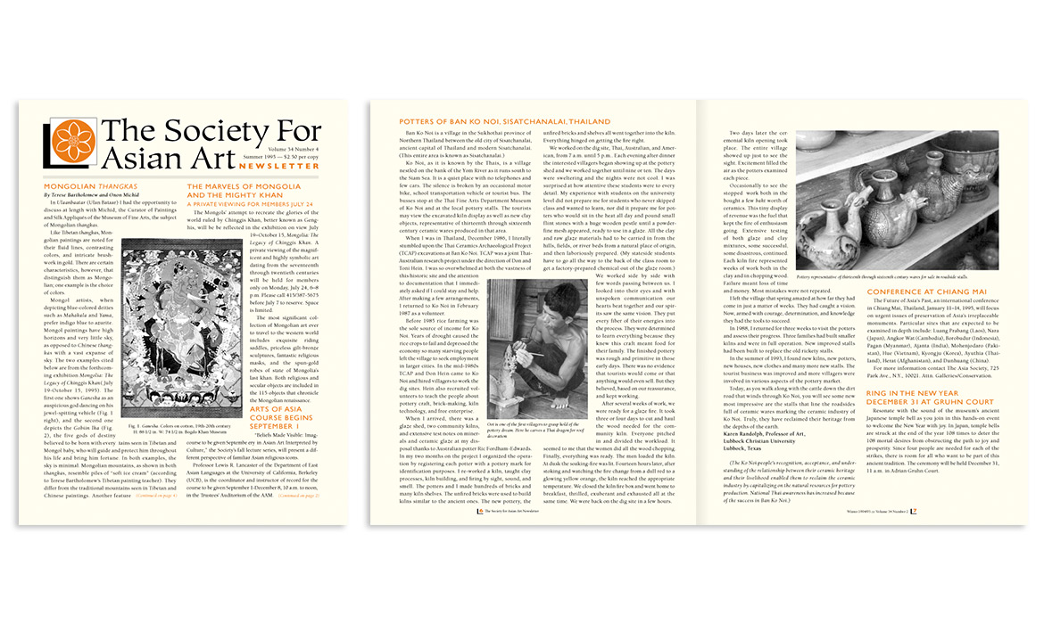 Society for Asian Art publication spread
