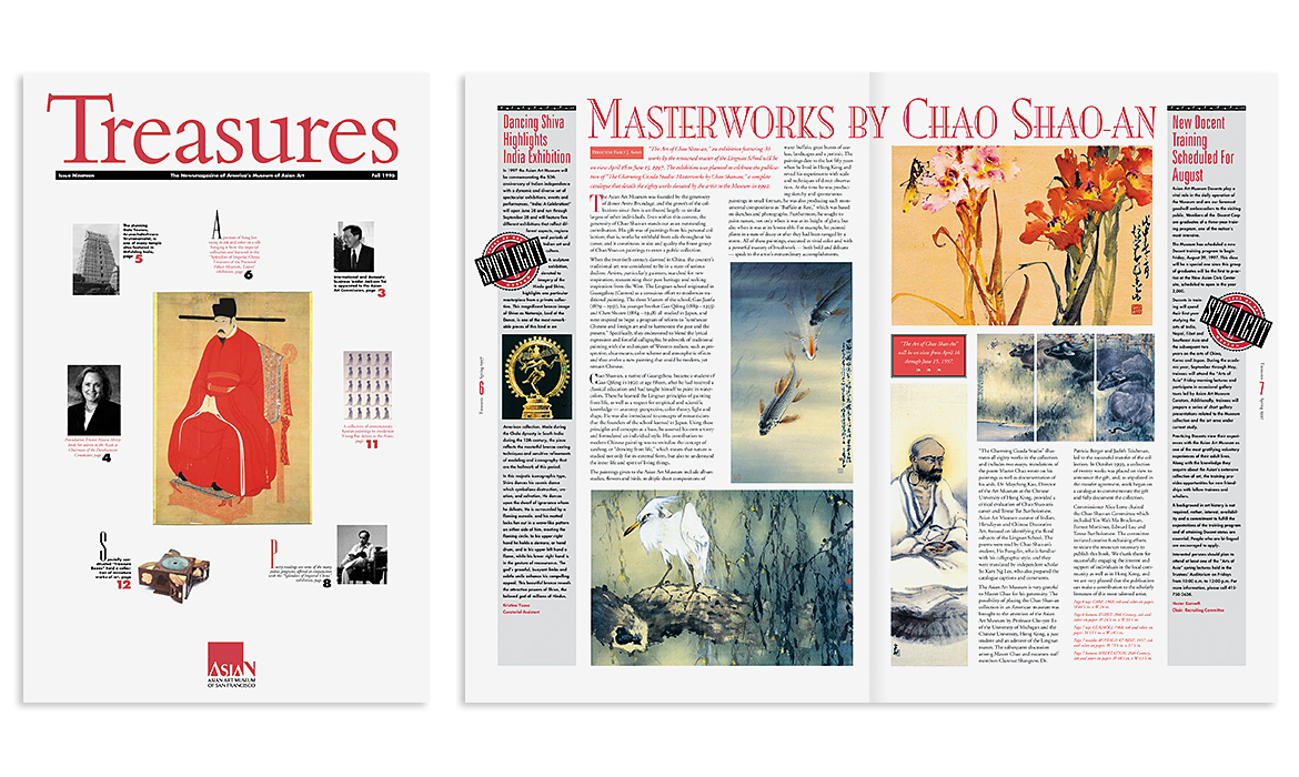 Treasures magazine spread