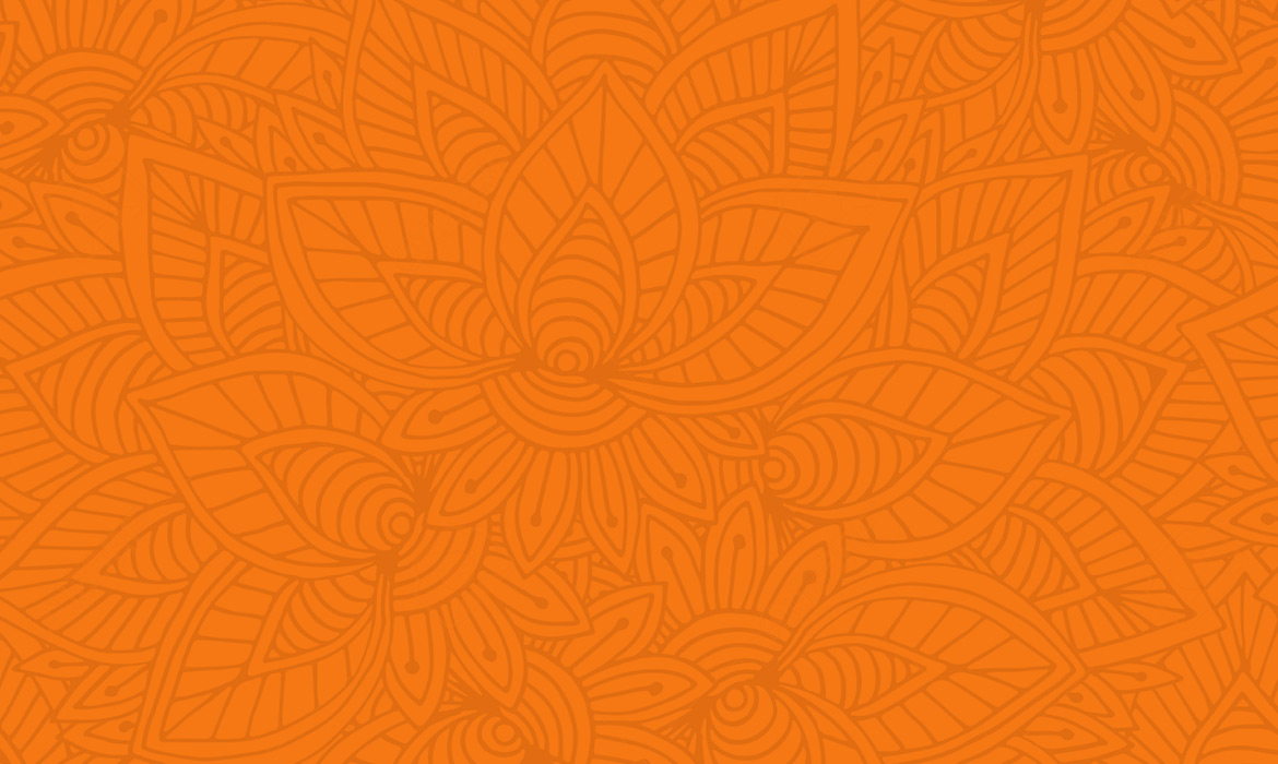 subtle pattern on orange background