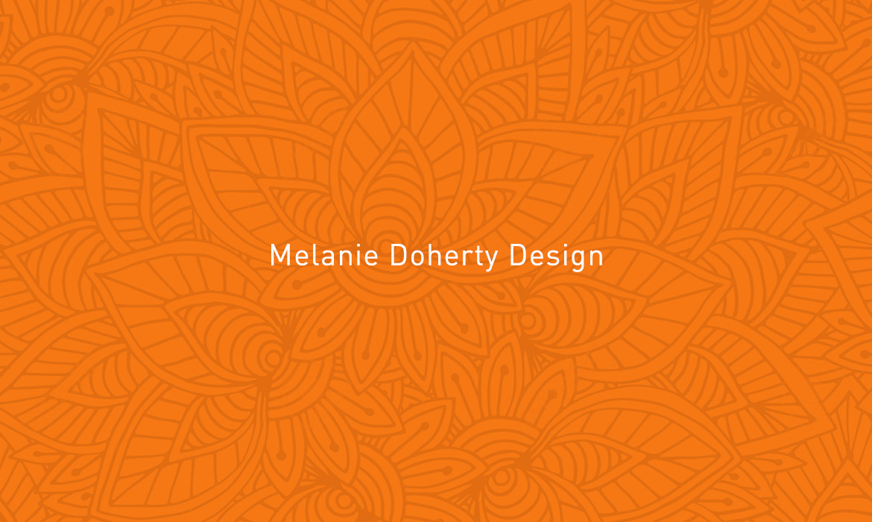 subtle pattern on orange background with title